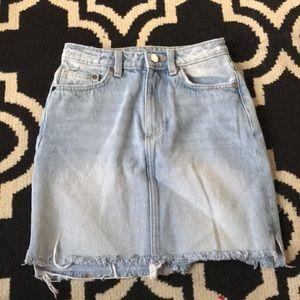 H and M mini denim skirt